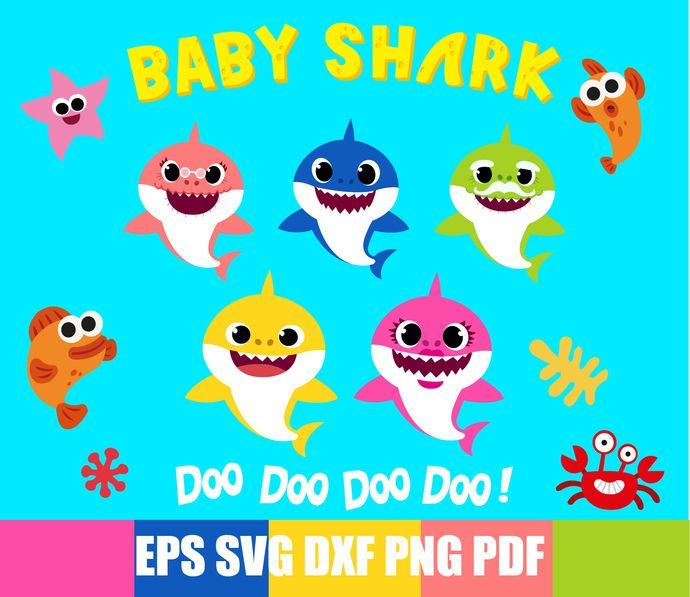 Baby Shark Svg Shark Family Svg Daddy Shark Mommy Shark
