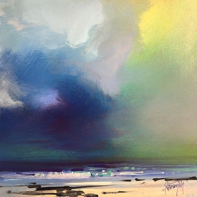 Oil on aluminium mini 20cm painting #art #painting #scotland #colour #skyporn #sky #clouds #oilpainting #scottnaismith