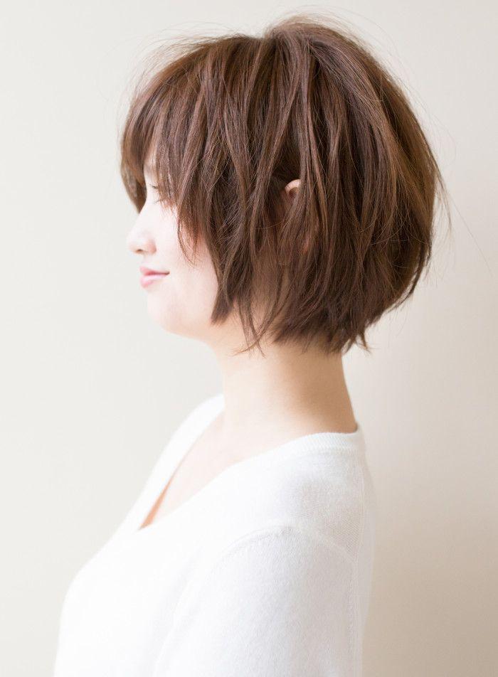 動きのあるショートボブ 髪型 ヘアスタイル ヘアカタログ