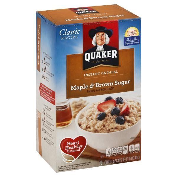 Quaker Oatmeal Maple & Brown Sugar Instant Oatmeal