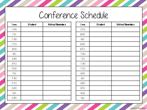 Elegant Parent Teacher Conference Form Parent Teacher Conference {Speech And  Language Forms}   Speech Peeps  Conference Sign Up Sheet Template