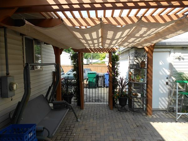diy shade cover for pergola, home depot has step-by-step directions: http://www.homedepot.com/catalog/pdfImages/a3/a30d9e01-c991-41cd-90d0-c9ecb608e8d8.pdf?cm_mmc=seo%7Caltruik%7C203274839
