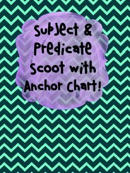This engaging pack comes with an anchor chart (Explaining with examples the different between a subject & predicate) & a 21 task card scoot game that asks students to identify and write down either the subject or predicate.