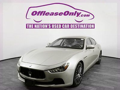 2015 Maserati Ghibli S Q4 AWD Off Lease Only Champagne Metallescent 2015 MaseratiGhibliS Q4 AWD with 18299 Mil