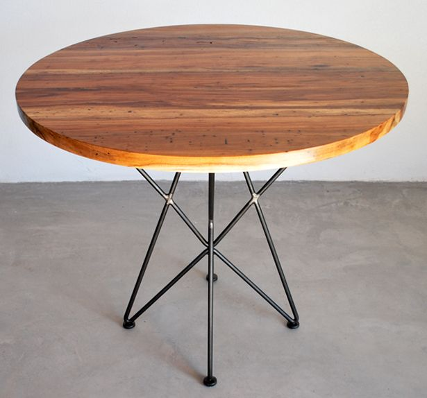garza furniture round cafe table