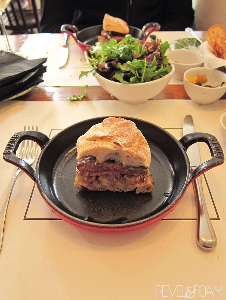 Food in Lisbon that makes you drool. Pictured here is a steak sandwich that will change your life...