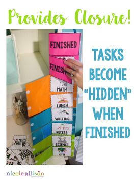 Simple and effective way to share your schedule. I know some kids who would love closing the flaps! The VERY Visual Schedule by Nicole Allison | Teachers Pay Teachers