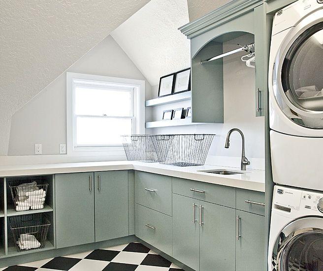 Abstellraum, Wohnen, Waschküche Etagen, Waschküche Schränke, Wäsche Schrank,  Waschküchen, Pet Zimmer, Handwerk Zimmer, Grüne Schränke