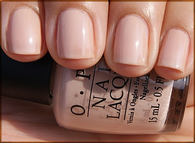 New fave nude instead of a more pink sheer...Samoan Sand by OPI