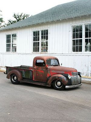 46 Chevy, I love these old trucks.
