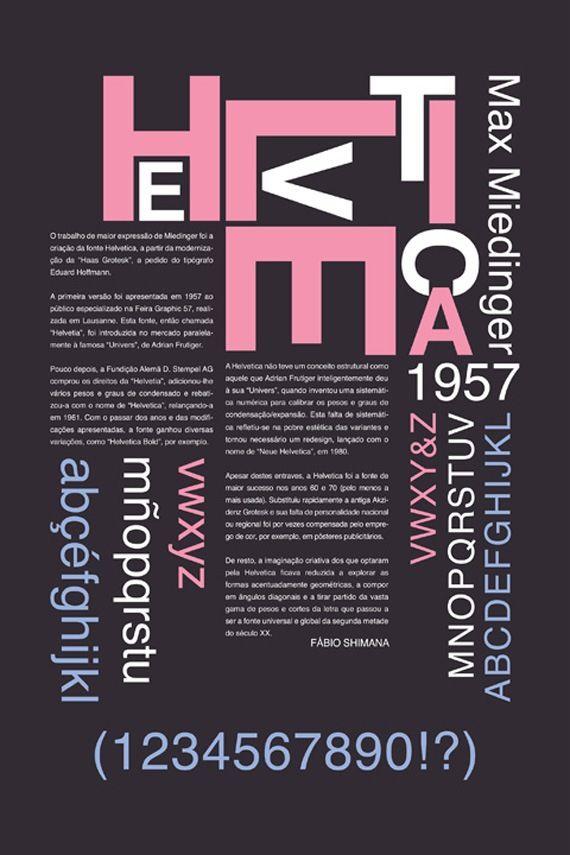 """Esempio lavoro tipografico 2.  Trovo molto originale il modo in cui è stata disposta la parola """"HELVETICA"""", il testo sottostante è invece ordinato è semplice. Secondo me è stata un'ottima scelta per non creare confusione. Mi piacerebbe realizzare un poster creativo ma equilibrato come questo."""