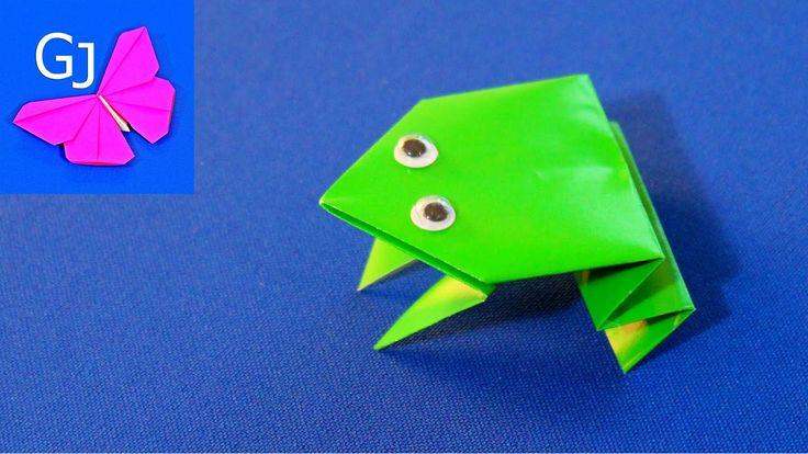 Оригами лягушка - попрыгушка