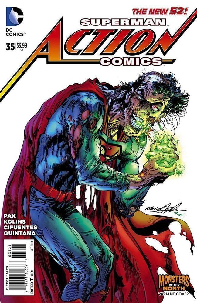 ACTION COMICS #35 MONSTER VARIANT SUPERMAN NEAL ADAMS COVER NM HOT