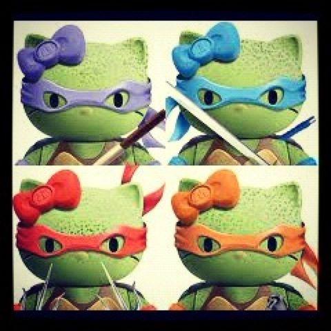Hello Kitty Ninja Turtles