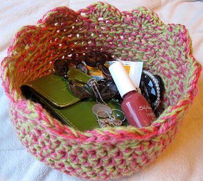 crochet bowl pattern