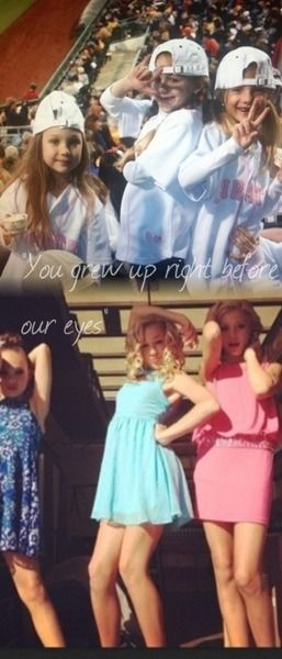 You grew up right before our eyes-- I love this so much it almost made me cry like not even joking... It's so true for the moms, for Abby and especially for the fans<3---love these cuties