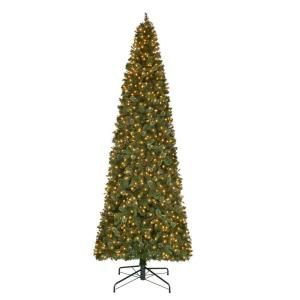 12 ft. Pre-Lit LED Alexander Pine Artificial Christmas Quick Set Tree with 2850 Tips and Warm White Lights TGC0M5311L00 at The Home Depot - Mobile