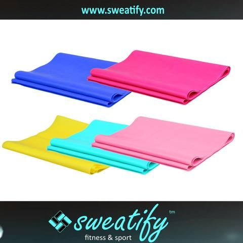 Sweatify Elastic Stretchable Rubber Resistance Band for Yoga and fitness
