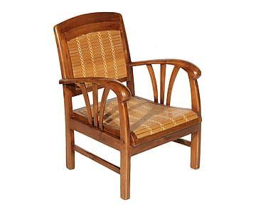 Sillón de madera de teca y bambú