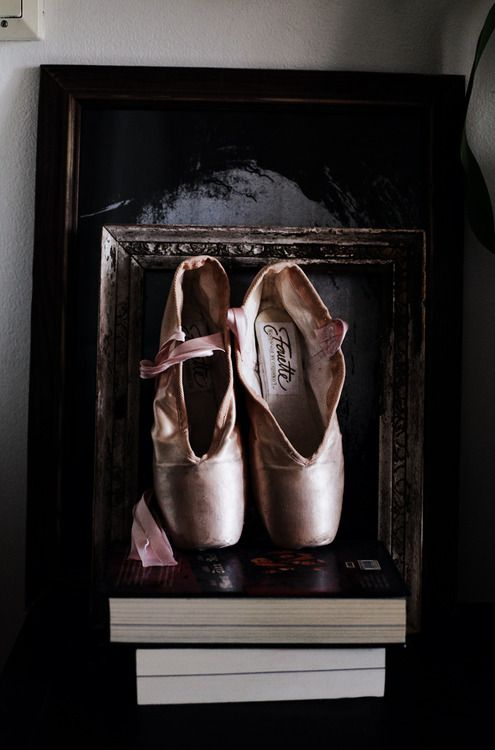 I'm totally framing my pointe shoes for my little girls room.. if I don't have a girl they will be framed for me.