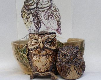 Hedgehogs Stoneware Yarn bowl Ceramic Yarn Bowl With Three