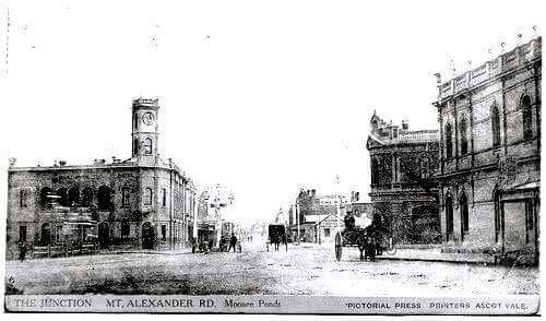 The Junction Mt. Alexander Rd,Moonee Ponds, Victoria in 1905.