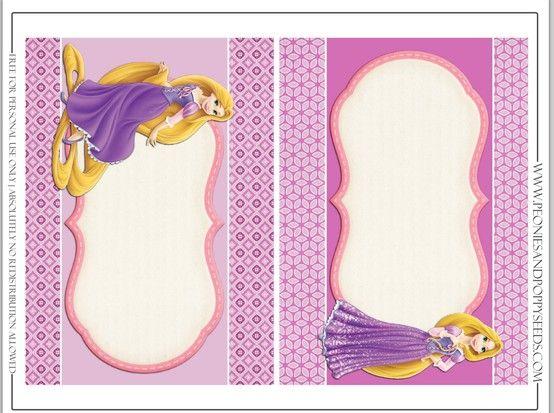 Rapunzel Tangled food labels