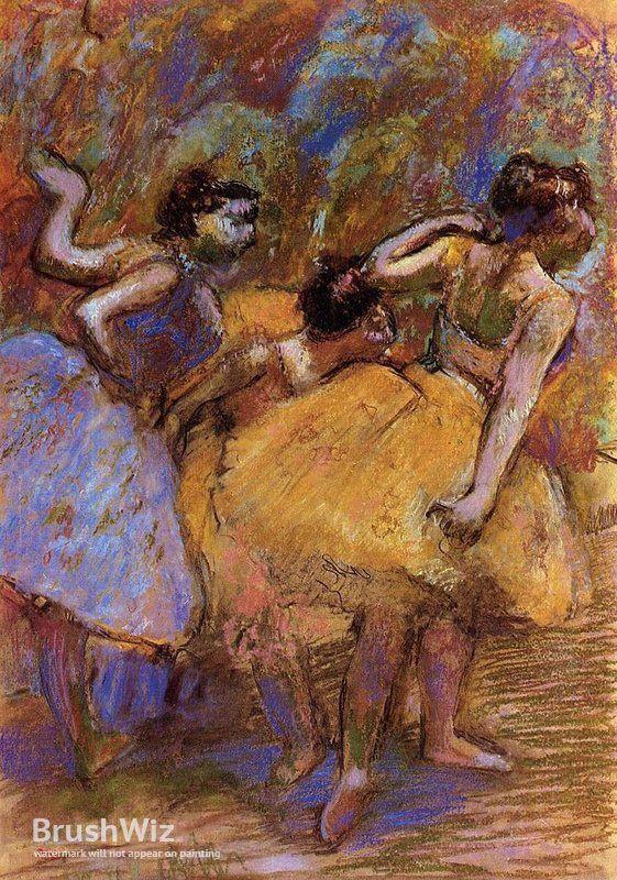 Dancers by Edgar Degas - Oil Painting Reproduction - BrushWiz.com