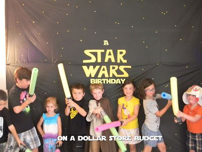A Star Wars Party on a Dollar Store Budget. idea- laser beam obstacle course. Also lava pit (use hula hoops)
