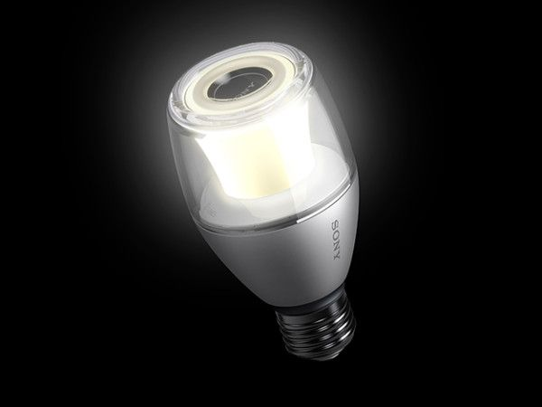 Sony has a light bulb that combines LED light with a Bluetooth music speaker. See more on Lights Online Blog.