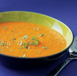 Roasted Carrot & Ginger soup recipe I got from my Mother who got it from her Fine Cooking mag. The absolute best you'll ever have. Be sure to roast the carrots well as that's where you get the depth of flavor.