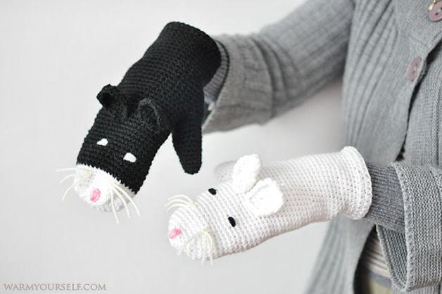 Cats on DaWanda Nasze rękawiczki koty świetnie nadają się dla kobiet, które lubią bawić się modą i stylem, a wewnątrz wciąż mają coś z dziecka... :) Rozmiar uniwersalny dla nastolatków oraz dorosłych.   Powyższy...