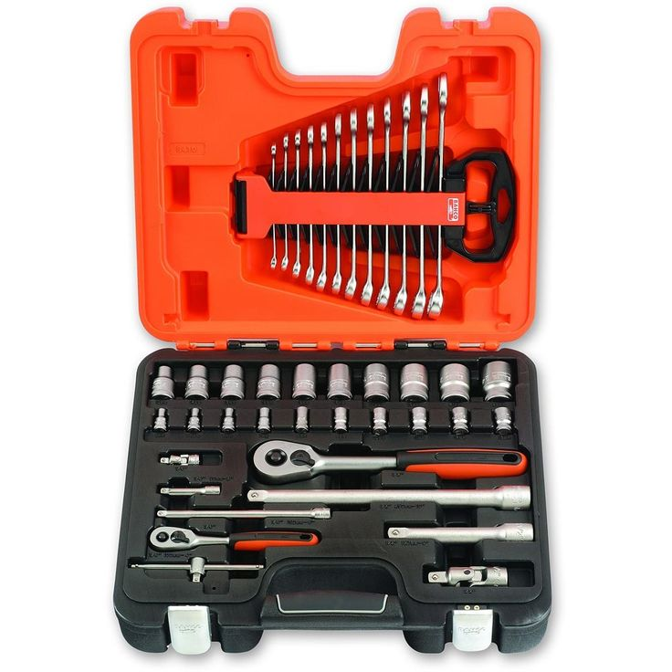 """Bahco 41 Piece Socket and Spanner Set (1/4"""" & 1/2"""")"""