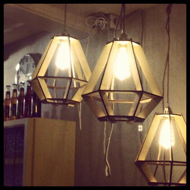 Laser cut wooden lamps by Nadin Varsovia
