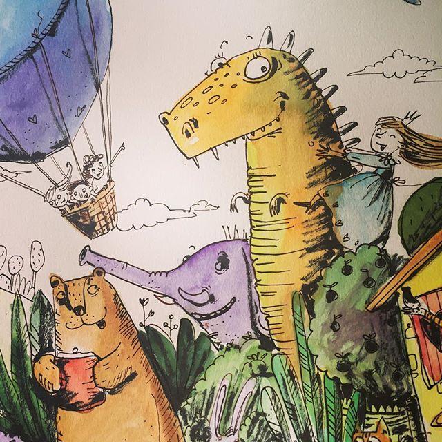 Фрагмент из рисунка на тему Мой Дом для нашего марафона #денькрокодила 🌐 fragment of the drawing on the topic My House for our drawing marathon #рисунок #рисуйкаждыйдень #детскаяиллюстрация #arts_help #art_we_inspire #topcreator #illustrationartists #childrenillustration #sketchbook