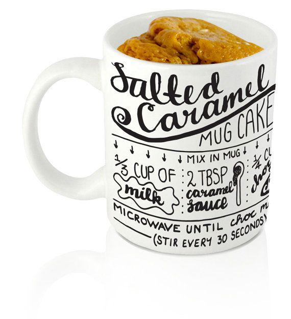 Salted Caramel Mug Cake Recipe Mug. Hand by summerandskye on Etsy