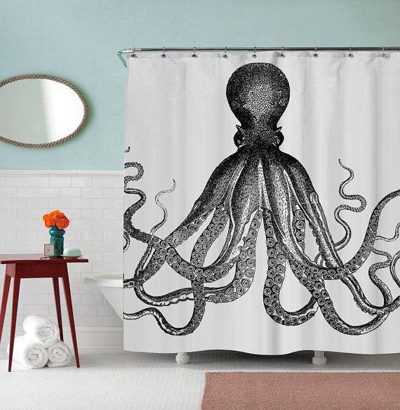 AJSC001 Rideau de douche Design Octopus par PAKEMSABHARA sur Etsy