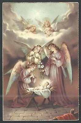Holy card antique postale de Jesus Bambino estampa santino image pieuse