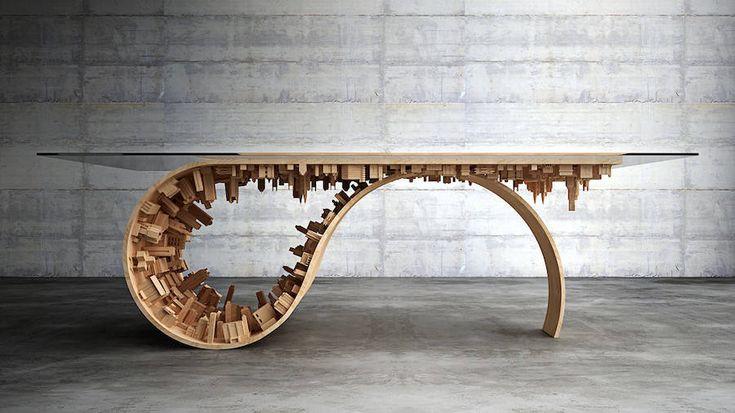 Wave City Dining Table – Fubiz Media