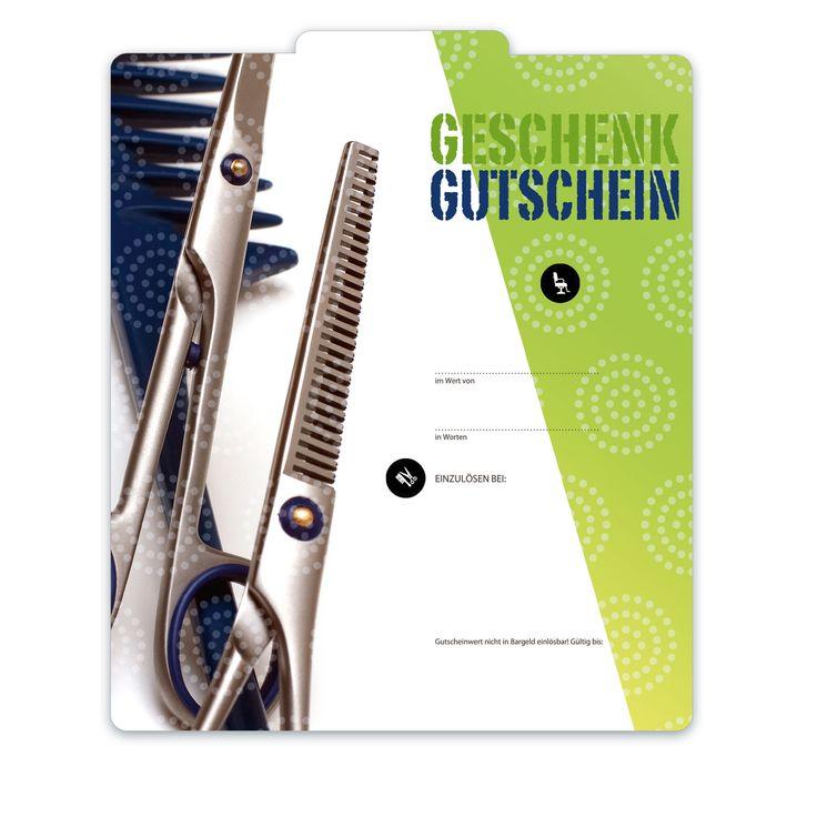 Premium Faltgutschein Multicolor K205 für Friseursalons, Friseurgechäften, Haarstyling!