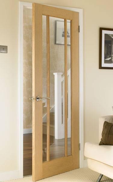 Worcester Oak glazed door -howdens Another option for the hallway doors & 18 best Interior doors images on Pinterest | Front doors Entrance ...