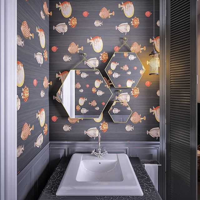 Гостевой санузел в Английском квартале #interior #designinterior #design #designers #дизайндома #дизайн_интерьера #дизайнпроект #интерьер #интерьер_санузла #cozy #cozyroom