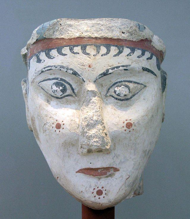 NAMA Mycènes portrait féminin - Civilisation mycénienne — Wikipédia