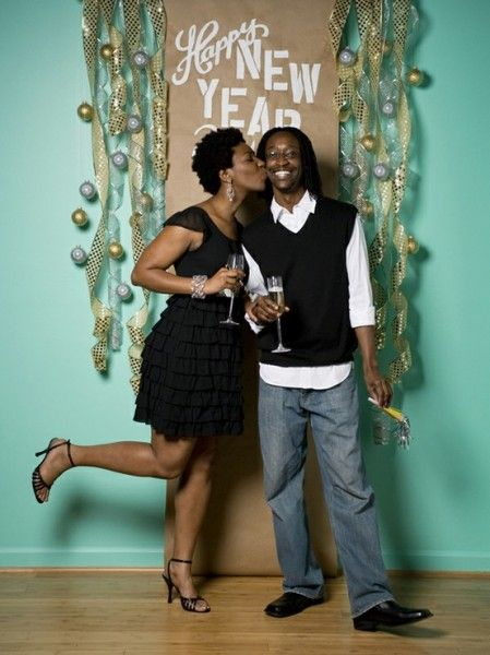 If you're throwing a party, decorate a wall or corner for photo shoot ops!