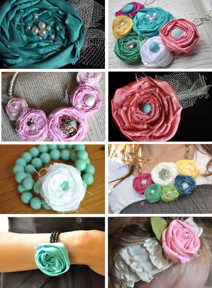 fabric rosette ~~ tutorial extravaganza! | Little Birdie Secrets