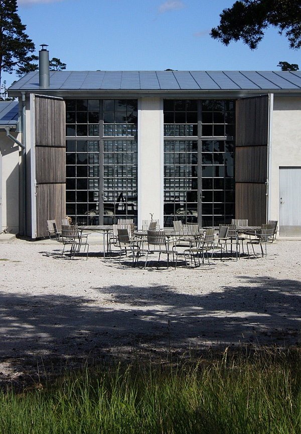 Fabriken Furillen Hotel, Gotland, Sweden, is a renovated industrial factory building remade into a luxury hotel.