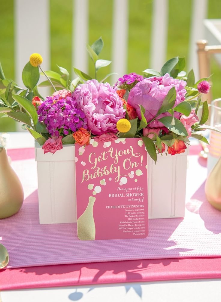 bridal shower invitation ideas craft%0A Get Your Bubbly On Bridal Shower Ideas