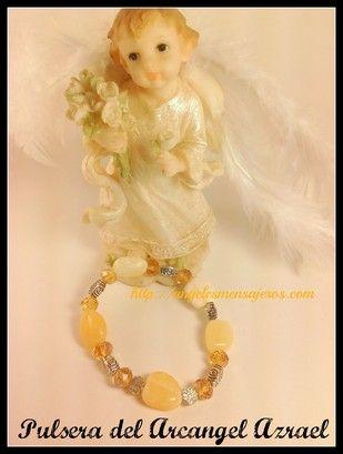 Angel bracelet. Pulsera del Angel-Arcangel amuleto-pulsera del los arcangeles-figuras de angeles-estatuillas de angeles-pulsera en cuarzo-calcita-pulsera energetica