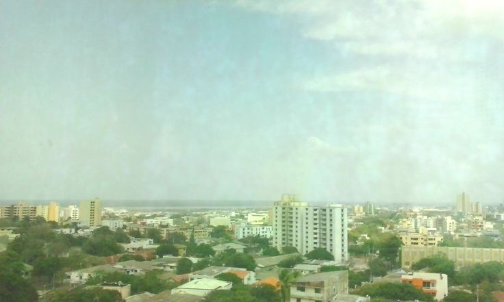 Al fondo el Río Magdalena, en Barranquilla.
