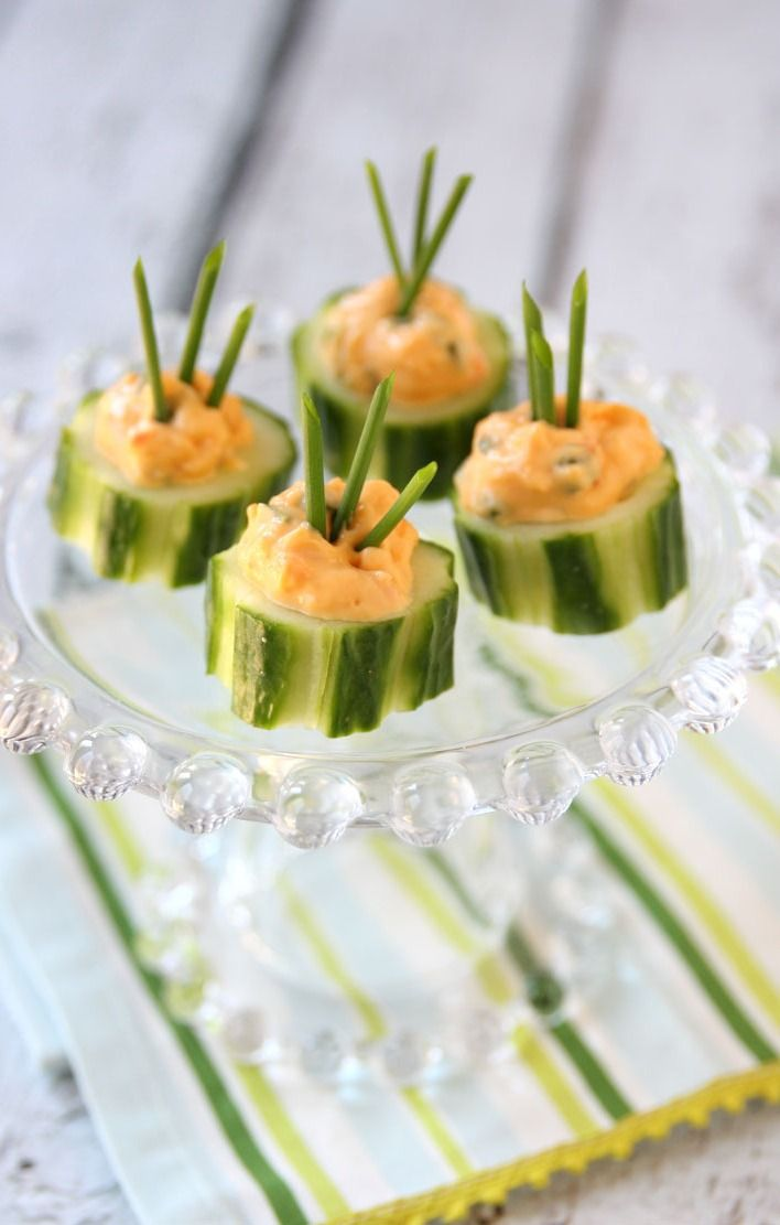 These Cucumber Pimento Bites are the perfect